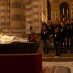 I Frutti di Bosco durante la Veglia di preghiera per i giovani nella Cattedrale di Casale Monferrato alla presenza dell'urna con le reliquie di San Giovanni Bosco
