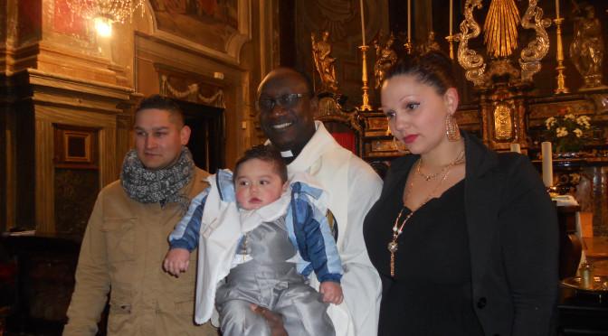 Battesimo speciale e trionfa l'amore