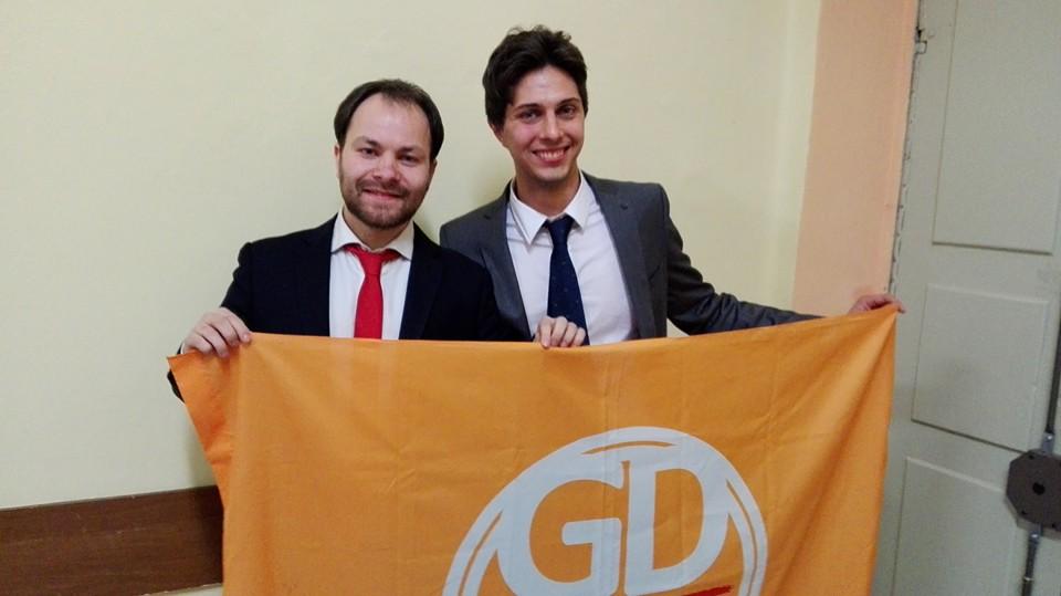 L'ormai ex Vice Sindaco Simone Gay in una foto di repertorio con l'ex Consigliere Edoardo Muzio