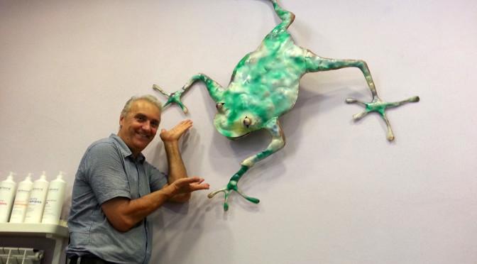Due noti artisti in visita alla Skapigliatura di Trino