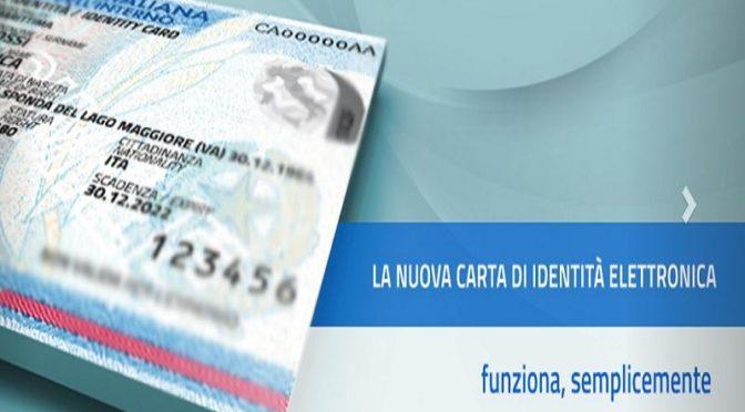Nuova carta d'identità emessa dal Comune di Casale