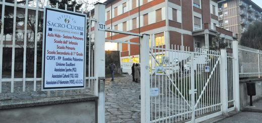 L'ingresso dell'Istituto Sacro Cuore