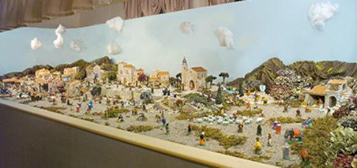 """Presepe 'santon' presente in Villa Vidua, in """"Natività d'Autore"""" (foto Loris Barbano)"""