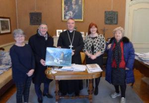 Delegazione Aido in Vescovado da Mons. Sacchi