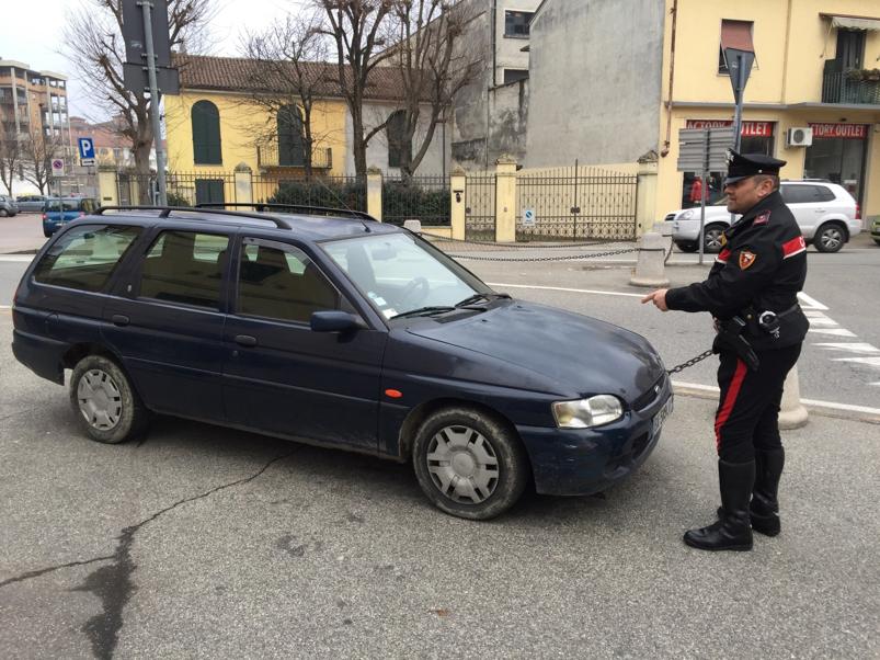 L'auto usata per la rapina impropria