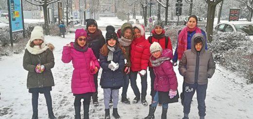 alunni della scuola primaria San Paolo sulla neve