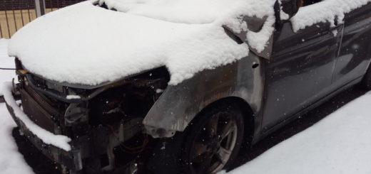 Auto bruciata in via Eccettuato