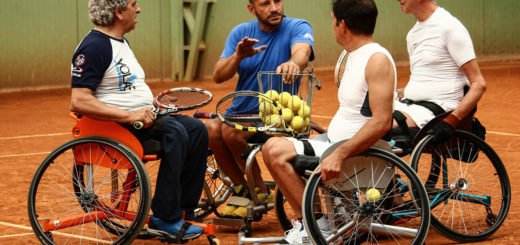 canottieri tennis in carrozzina