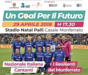 Nazionale Cantanti: manifesto Un Goal per il Futuro