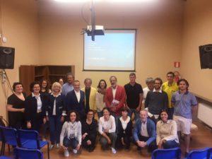 I giornalisti Masi e Tolfa con gli studenti al Luparia