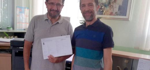 Renzo Avonto in Comune con la carta di identità elettronica