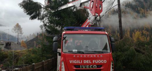 Vigili del fuoco nel Bellunese