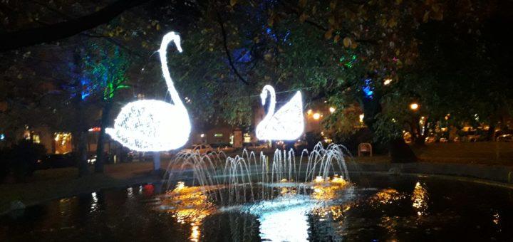 illuminazione in città