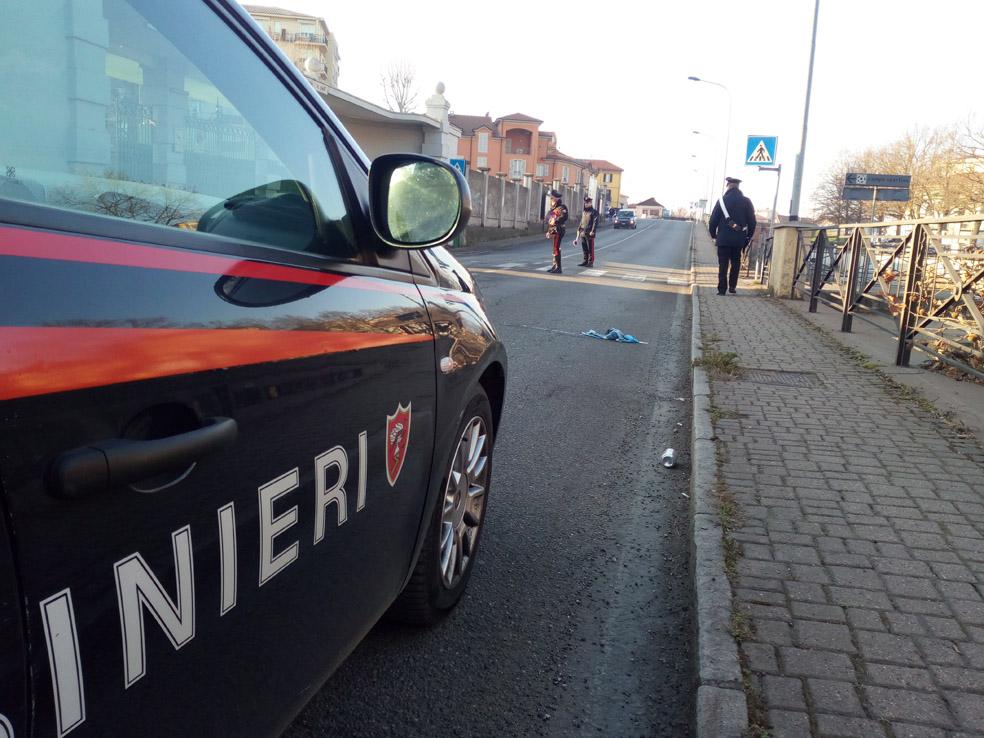 zona stadiio con auto carabinieri
