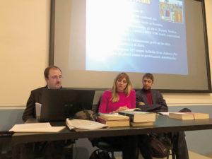 Marco Sigaudo, Elisa Molina e Fabio Prevignano, relatori della serata pubblica sull'olocausto