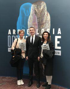 Da sinistra Vittoria Oglietti, Christian Greco (direttore del Museo Egizio) e Sabina Malgora