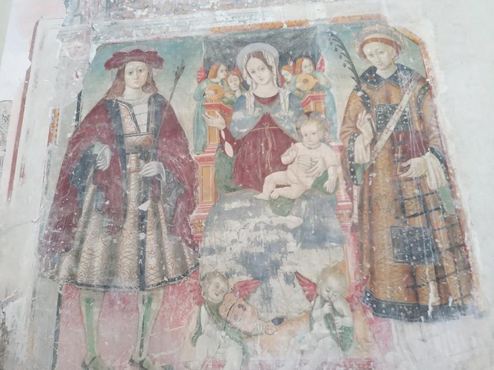 affreschi san gottardo_camino