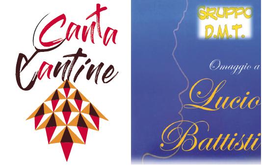 logo CantaCantine + locandina tributo lucio battisti