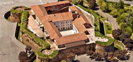 veduta castello paleologi casale veduta aerea