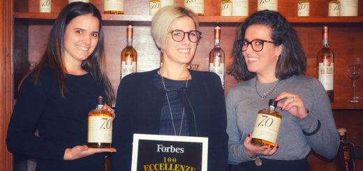 Elisa, Silvia e Chiara Belvedere Mazzetti con il riconoscimento Forbes
