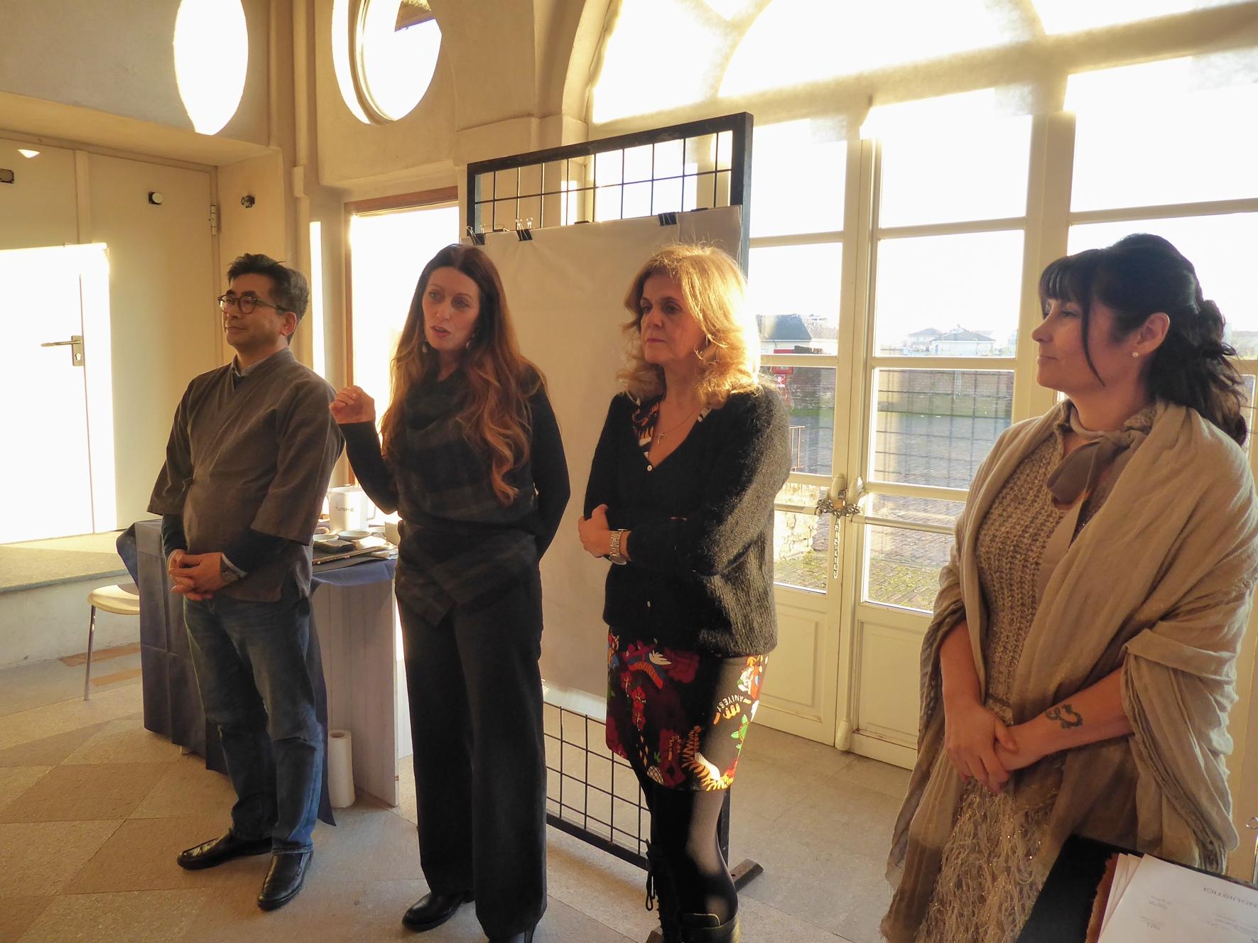 Nella foto da sinistra: Shoze Koike, Iris Devasini, Assessore Gigliola Fracchia e Paola Casulli