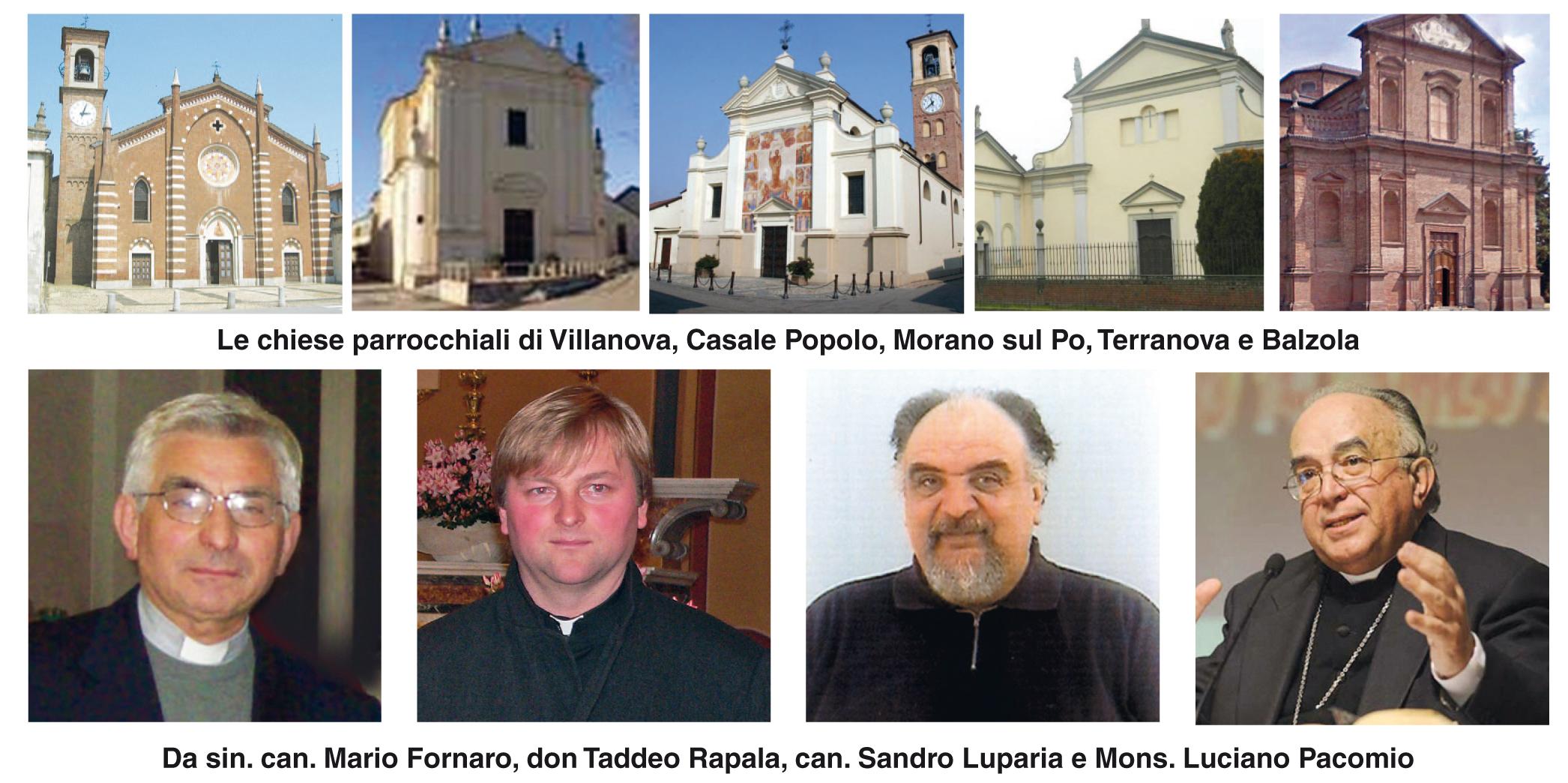 chiese e parroci dell'Unità Pastorale San Giovanni Paolo II