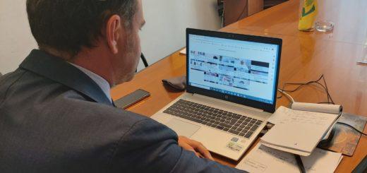 il Presidente Coldiretti Alessandria Mauro Bianco durante la videoconferenza organizzata questa mattina dalla Prefettura di Alessandria.