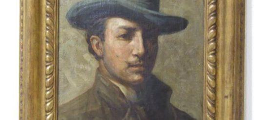 Luigi Onetti, 1896, Autoritratto con cappello