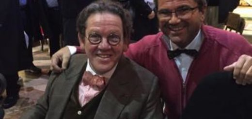 Roberto Imarisio con l'amico Philippe Daverio