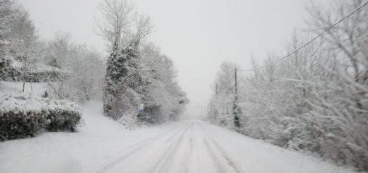 Nevicata di lunedì mattina, 28 dicembre, in Monferrato