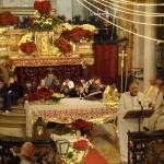 Celebrazione della Santa Messa a Lu alla presenza dell'urna con le reliquie di San Giovanni Bosco