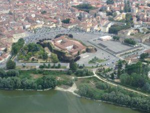 veduta del Castello di Casale dall'alto