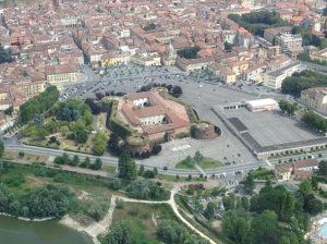 veduta aerea castello paleologi casale